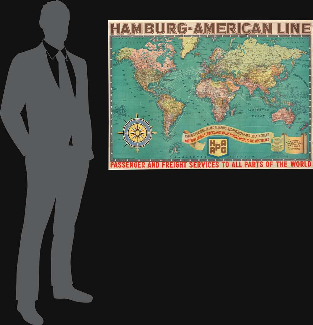 Hamburg-American Line. Passenger and Freight Services to all Parts of the World. - Alternate View 1