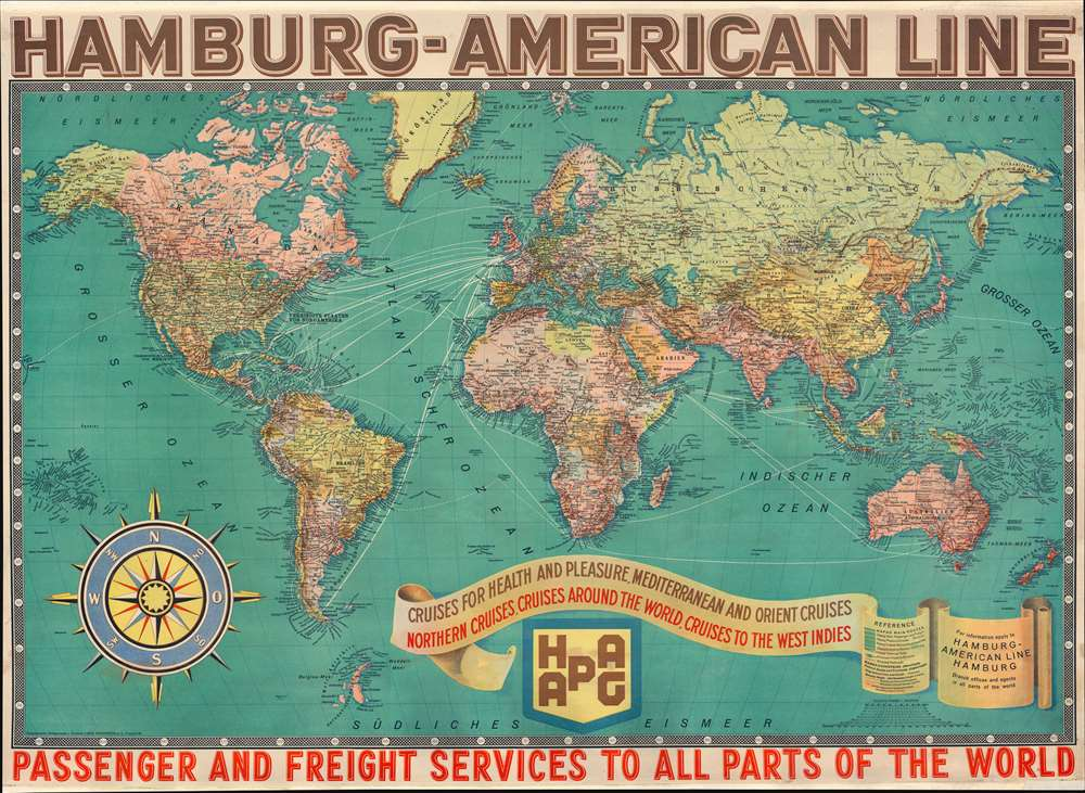 Hamburg-American Line. Passenger and Freight Services to all Parts of the World. - Main View