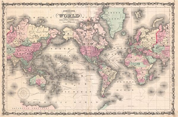 Johnson's Map of the World on Mercator's Projection