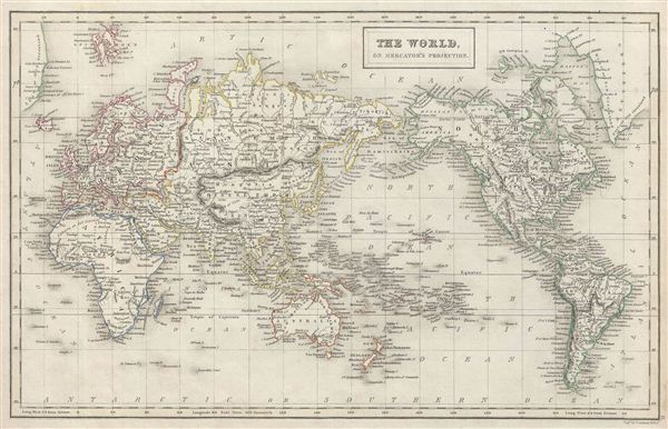 The World, on Mercator's Projection. - Main View