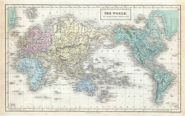 The World, on Mercator's Projection.