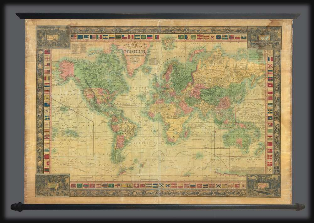 Map of the World, on Mercators Projection.: Geographicus ...