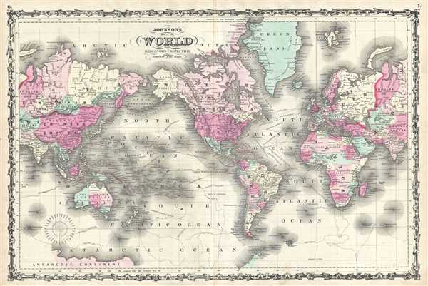 Johnson's Map of the World on Mercator's Projection.