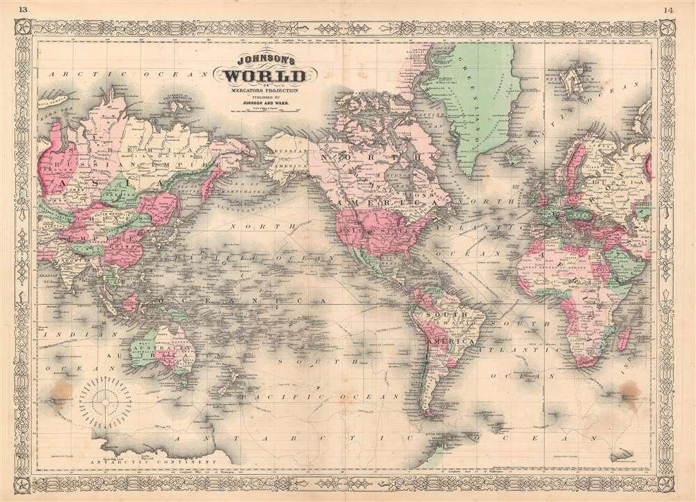 Johnson's World on Mercator's Projection.