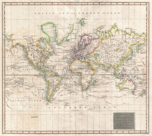 Hydrographical Chart of the World on Wright or Mercators Projection With Tracts of the Last Circumnavigators.