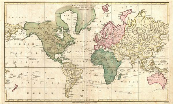A New Mercator's Chart Drawn from the Latest Discoveries. - Main View