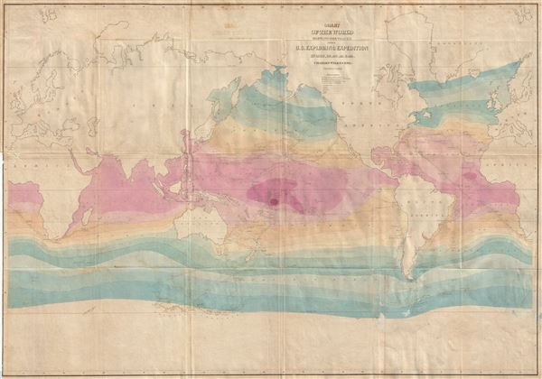 Chart of the World Shewing the tracks of the U.S. Exploring Expedition in 1838, 39, 40, 41 & 42.