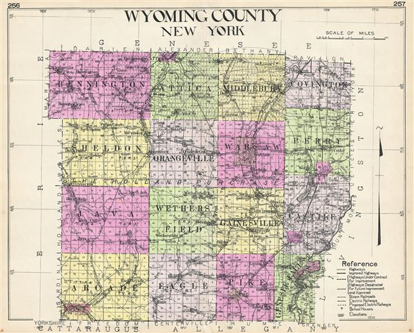 Wyoming County New York Geographicus Rare Antique Maps - County map ny