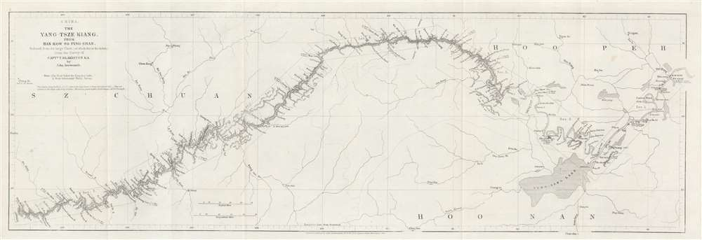 China. The Yang-Tsze Kiang, from Han-Kow to Ping-Shan; reduced from the large Chart (of which this is the Index) from the Survey of Captain T. Blakiston R.A. - Main View