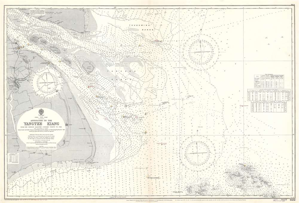 Approaches to the Yangtze Kiang. From the Chinese Maritime Customs Charts to 1928.