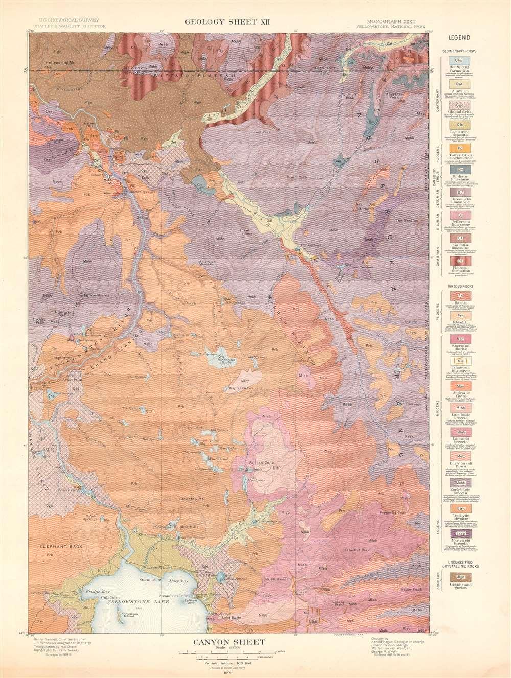 Canyon Sheet.  Geology Sheet XII. - Main View