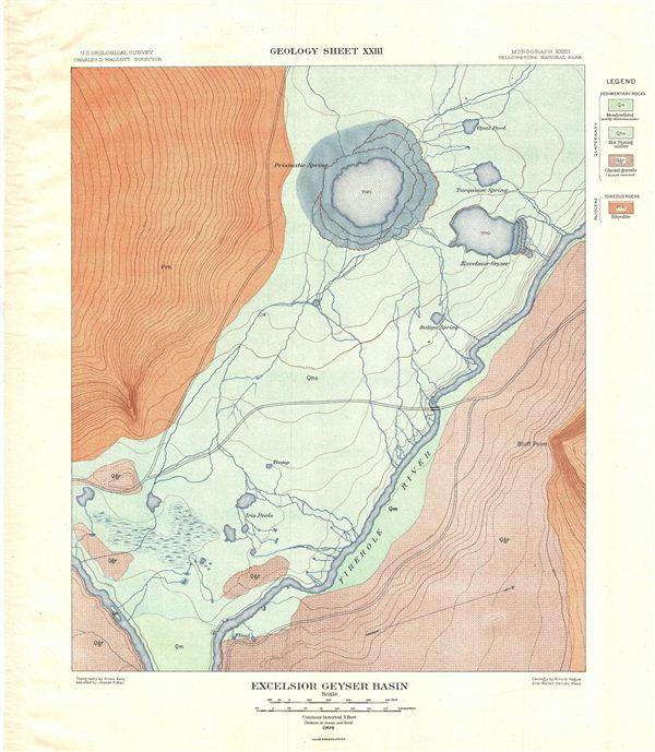 Excelsior Geyser Basin.  Geology Sheet XXIII.