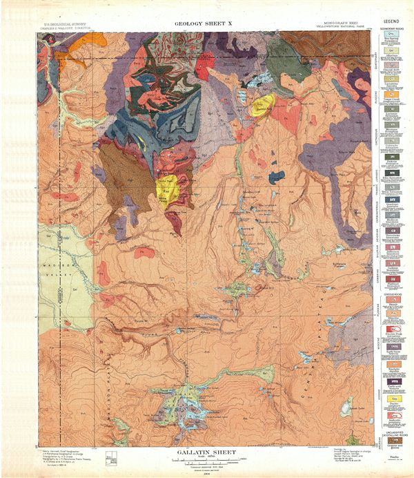 Gallatin Sheet.  Geology Sheet X. - Main View