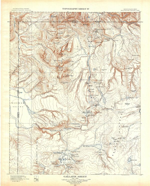 Gallatin Sheet.  Topography Sheet IV.