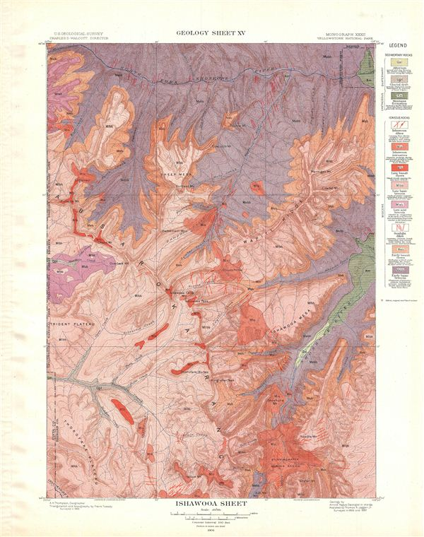 Ishawooa Sheet.  Geology Sheet XV.