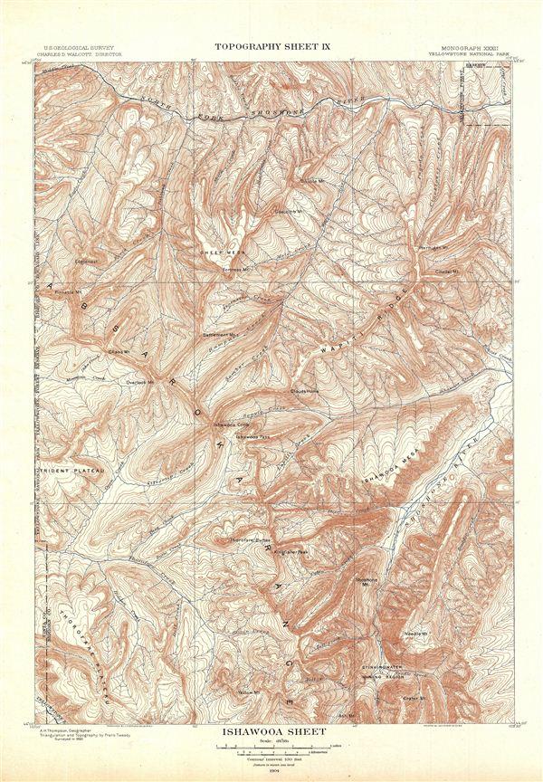 Ishawooa Sheet.  Topography Sheet IX.