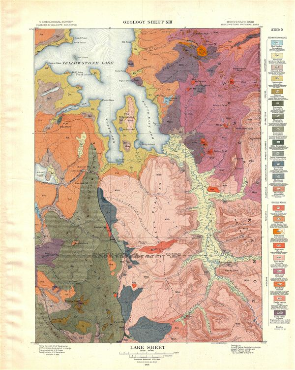 Lake Sheet.  Geology Sheet XIII. - Main View