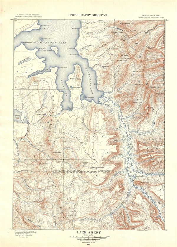 Lake Sheet.  Topography Sheet VII.