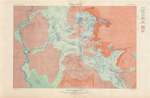 Norris Geyser Basin.  Geology Sheet XXI.