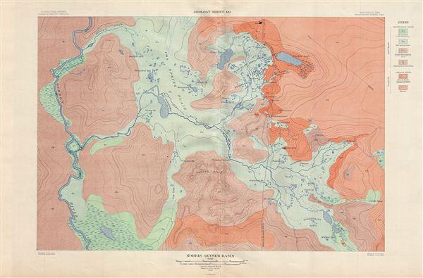 Norris Geyser Basin.  Geology Sheet XXI. - Main View