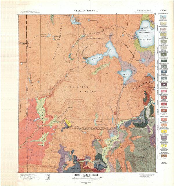 Shoshone Sheet.  Geology Sheet XI.
