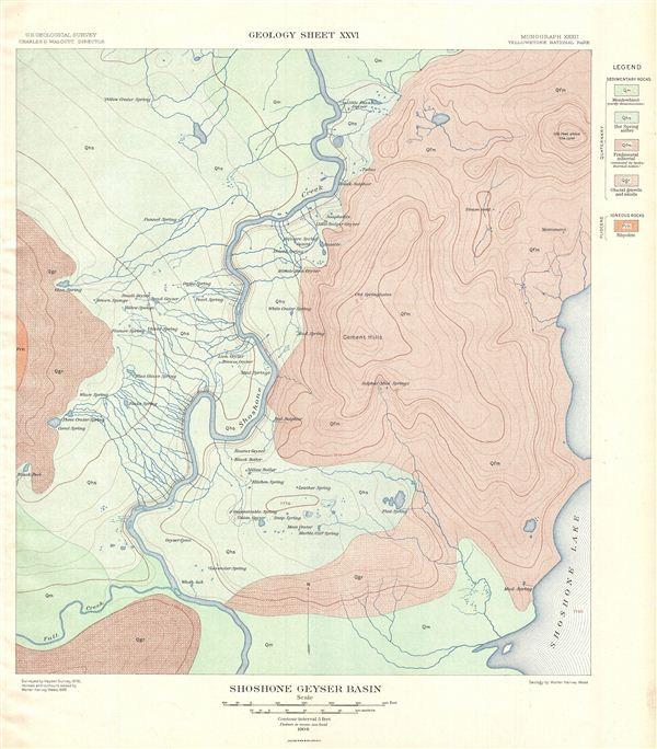 Shoshone Geyser Basin.  Geology Sheet XXVI.