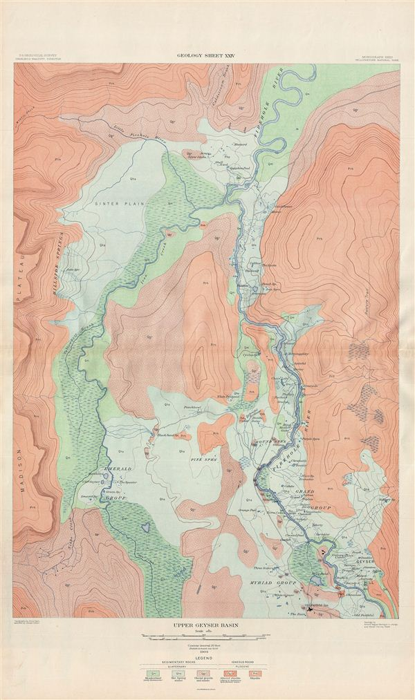 Upper Geyser Basin.  Geology Sheet XXIV.