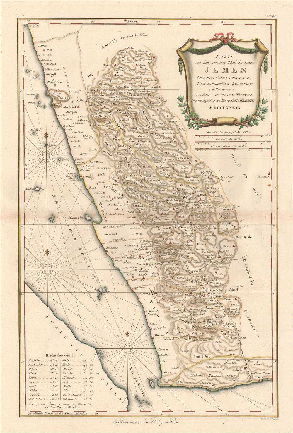 16x20 Persia and Arabia 1666 Historic Middle East Exploration Map
