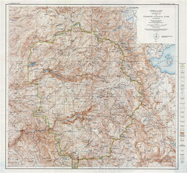 Topographic Map Of Yosemite National Park California Geographicus