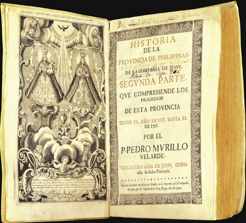 Mapa de Las Yslas Philipinas Hecho Por el Pe. Pedro Murillo Velarde de Compa. de Jesus. - Alternate View 3