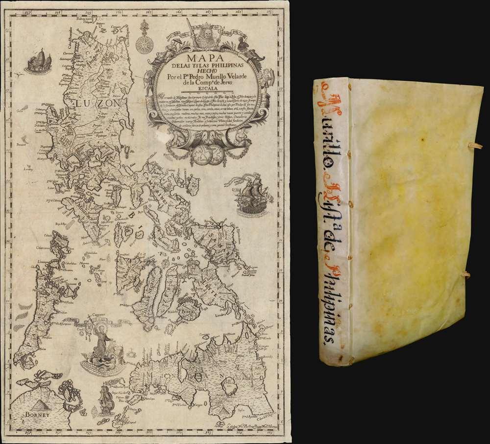 Mapa de Las Yslas Philipinas Hecho Por el Pe. Pedro Murillo Velarde de Compa. de Jesus. - Main View