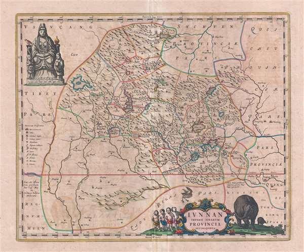 Iunnan Imperii Sinarum Provincia.