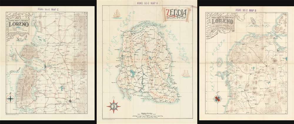Zendia Respubliko (ASAS 60-2 MAP A)/ Norda Parto de la Provinco Loreno (ASAS 60-2 MAP B)/ Centra Parto de la Provinco Loreno (ASAS 60-2 MAP C). - Main View