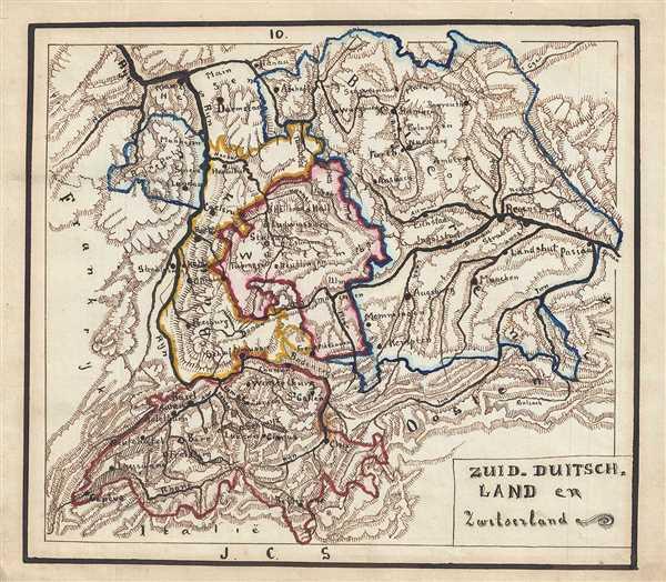 Zuid-Duitsch Land en Zwitzerland. - Main View