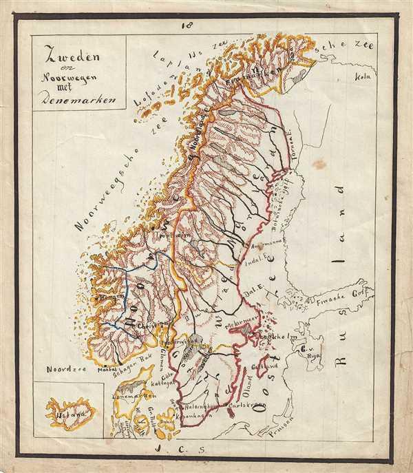 Zweden en Noorwegen met Denemarken.