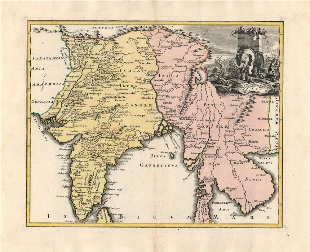 1720 Weigel Map of India and Southeast Asia