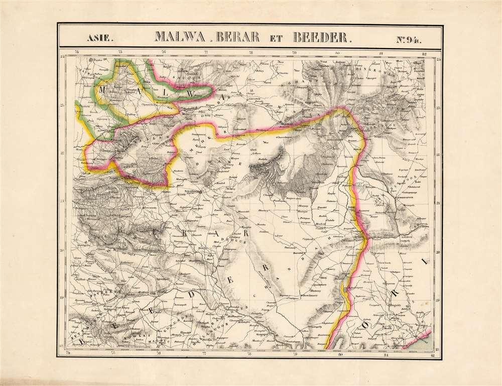 Malwa, Berar et Beeder. Asie no. 94. - Main View