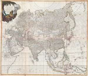 1784 Laurie and Whittle Wall Map of Asia