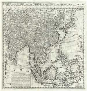 1719 Chatelain Map of East Asia: China, Korea, Japan, India, East Indies