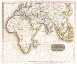 1829 Thomson Map of Conquests of Mohammed (Asia, Africa, Arabia)