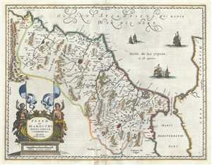 1660 Jansson Map of Morocco, Africa
