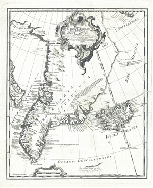 1746 Anderson Map of Greenland and Iceland