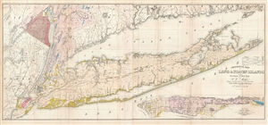 1842 Mather Map of Long Island, New York