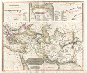 1829 Thomson Map of the Marches of Alexander the Great (Middle East, Asia)