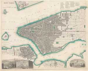 1840  S.D.U.K. Map of New York City