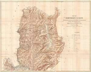1900 Otis Map of the Northern Luzon, the Philippines, during the Philippine-American War