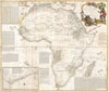 1787 Boulton / Sayer Wall Map of Africa , Africa, with all its States, Kingdoms, republics, Regions, Islands, & cca. Improved and Inlarged form D�Anville�s Map to which has been added A particular Chart of the Gold Coast wherein are Distinguished all the European Forts, and Factories by S. Boulton.