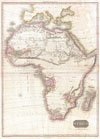 1818 Pinkerton Map of Africa , Africa.