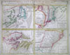 1730 Homann Map of the English Colonies in America (United States) , Dominia Anglorum in America Septentrionali.