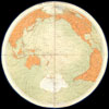 1860 James Polar Projection of the Globe - Antarctica / Pacific Center , Geometrical Projection of Two Thirds of the Sphere by Col. Sir H. James, R.E.F.R.S: M.R.I.A: & c.